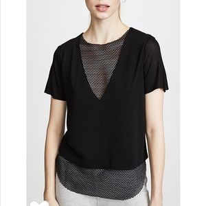 Koral Double layer tee in Black sz MED